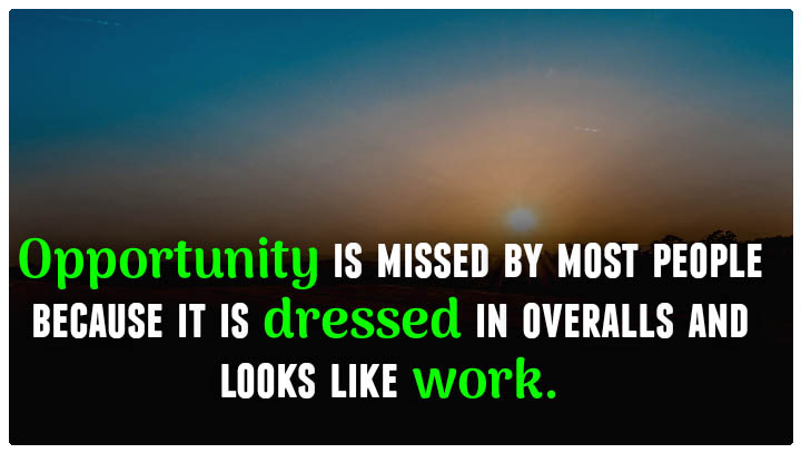 English thought on opportunity